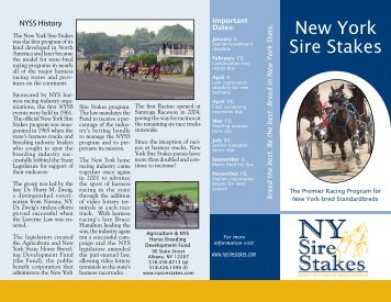 Brochure 1 - New York Sire Stakes