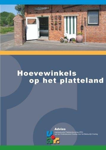 Hoevewinkels op het platteland - Vlaamse Landmaatschappij