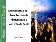Apresentação da Área Técnica de Alimentação e Nutrição da Bahia