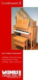 Continuum II - Orgelbau Weimbs