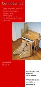 Continuum II - Orgelbau Weimbs - Seite 2