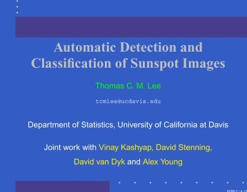Automatic Detection and Classification of Sunspot Images