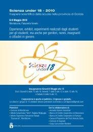 Scienza Under 18_Programma