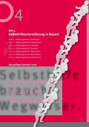 Drehscheibe Hilfe zur Selbsthilfe: SeKo Bayern