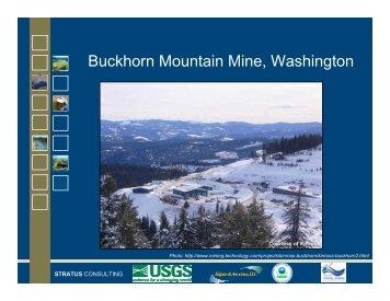 Buckhorn Mountain Mine, Washington - State Water Resources ...