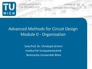 Advanced Methods for Circuit Design Module 0 - Organization