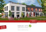 Die Parkside Lofts für Eigennutzer - in den Parkside Lofts!