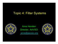 Topic 4: Filter Systems - AAVSO