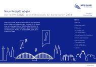 Neue Rezepte wagen Der NRW.BANK.Ideenwettbewerb für ... - Wisnet