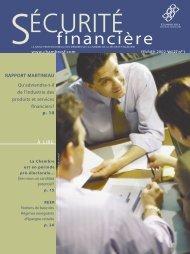 février 2002 - Vol. 27 - No 1 - Chambre de la sécurité financière