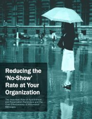 Reducing the 'No-Show' Rate at Your Organization - Appointment-Plus