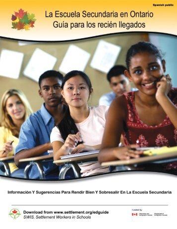 La Escuela Secundaria en Ontario - Settlement.org