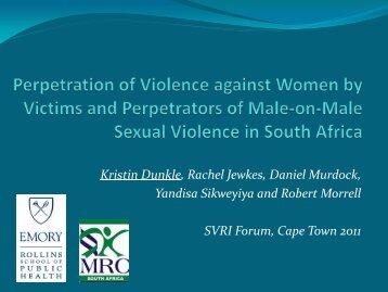 Perpetrators - Sexual Violence Research Initiative