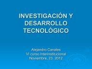 investigación y desarrollo tecnológico - Seminario de Educación ...