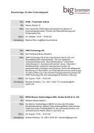 Besuchertage im Technologiepark - WFB Wirtschaftsförderung ...