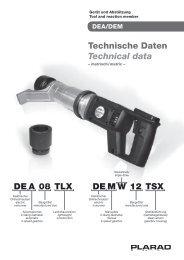 DEA 08 TLX DEMW 12 TSX Technische Daten Technical data - Biziz