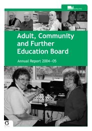 ACFEB Annual Report 2004-05 - Department of Education and Early ...