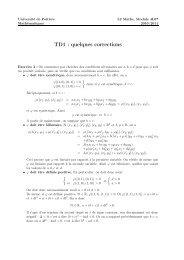 TD1 : quelques corrections - Mathématiques - Université de Poitiers