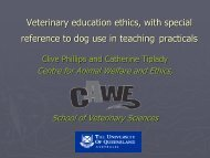 Veterinary Education Ethics
