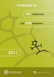 Guidelines for ATC classification and DDD assignment - WHOCC