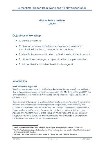 e-Maritime Workshop Report GPI 18Nov08.pdf - SKEMA Project ...