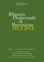 Bilancio Pluriennale di Previsione 2012-2014 - Azienda USL di ...