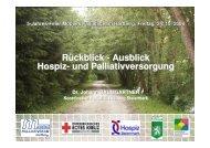 Rückblick - Koordination Palliativbetreuung Steiermark
