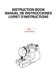 instruction book manual de instrucciones livret d'instructions - Janome