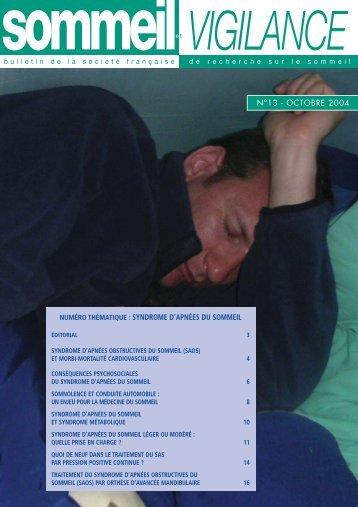 syndrome d'apnées du sommeil - SFRMS