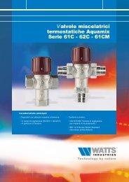 Valvole miscelatrici termostatiche Aquamix Serie ... - Watts Industries