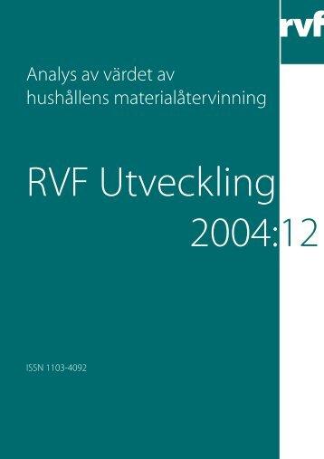 Analys av värdet av hushållens materialåtervinning - Avfall Sverige