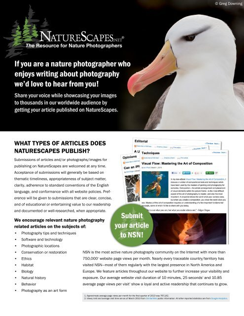download our guidelines PDF - NatureScapes.Net