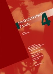 Muskuloskeletalt Forum - 4/2006 (pdf) - Fagforum for ...
