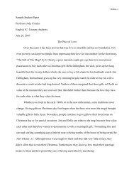 Sample Student Paper Professor Judy Crozier English 1C- Literary ...