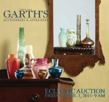 Garth's APRIL2011_brochure_ca_Layout 1 - Garth's Auctions, Inc.