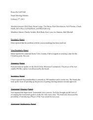 02/05/13 Board Meeting Minutes (pdf) - Roseville Golf Club