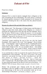 Zakat al-Fitr - Kalamullah.Com