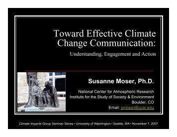 Presentation - Center for Science in the Earth System - University of ...