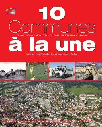 10 communes a? la une n° 11 avril 09:Mise en ... - Ville de Pontarlier