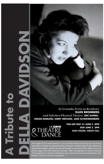 DELLA DA VIDSON - Department of Theatre & Dance