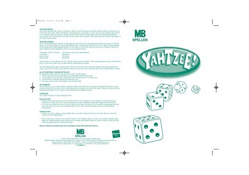 yahtzee - spelregels
