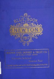 Blue Book 1917 - Newton Free Library