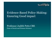 Evidence-based policy-making: Ensuring good ... - Berlin Conference