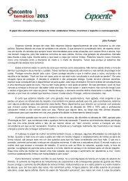 Conferência - Texto reflexivo - Escola Interativa