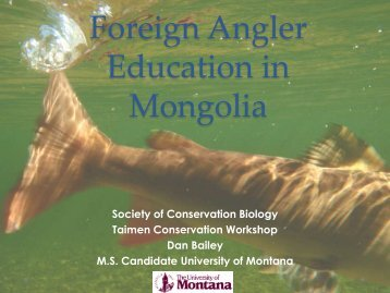Foreign Angler Education in Mongolia - State of the Salmon