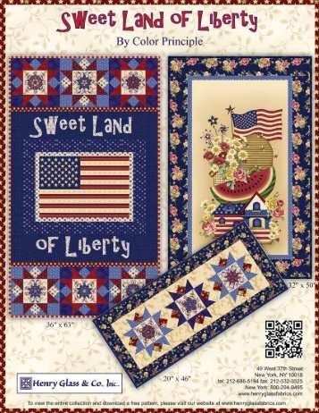 Sweet Land of Liberty Wall Hanging - Henry Glass & Co
