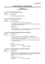 Výpis usnesení z jednání č. 82 ze dne 14. srpna ... - Město Chropyně