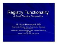 Registry Functionality - About Medical Home