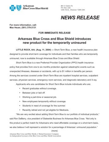 New affordable individual products p 16 17 arkansas blue cross news release arkansas blue cross and blue shield malvernweather Gallery