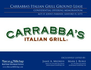 Carrabbas- Marketing Package - Property Line